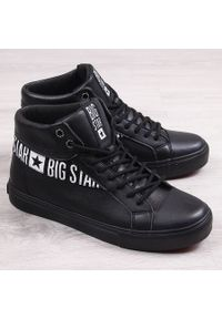 Big-Star - Buty sportowe męskie trampki czarne Big Star EE174339. Kolor: czarny. Materiał: skóra ekologiczna. Sezon: lato