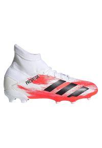 Adidas - Buty piłkarskie korki dla dzieci adidas Predator 20.3 FG EG0927. Zapięcie: sznurówki. Materiał: syntetyk, materiał. Szerokość cholewki: normalna. Wzór: nadruk. Sezon: lato. Sport: piłka nożna