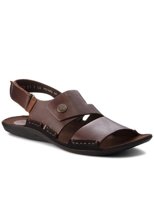 Brązowe sandały Nik na lato