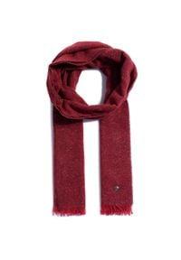 Pierre Cardin - Szal PIERRE CARDIN - 99174/2906/5205 Ruby Wine 5205. Kolor: czerwony. Materiał: jedwab, poliamid, wełna, materiał