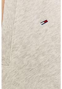 Szara sukienka Tommy Jeans casualowa, oversize, gładkie, mini