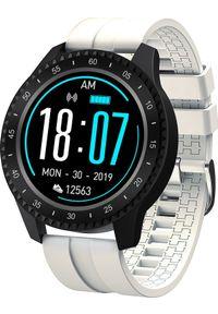 Biały zegarek Garett Electronics sportowy, smartwatch