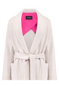 LA MANIA - Beżowy płaszcz Pozi. Okazja: do pracy, na spacer. Kolor: beżowy. Materiał: materiał #3