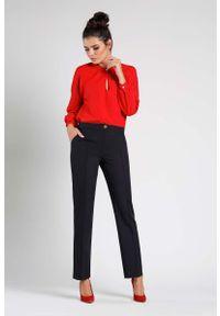 Czarne spodnie z wysokim stanem Nommo klasyczne