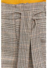 Szare spodnie materiałowe Silvian Heach z podwyższonym stanem, na co dzień, casualowe
