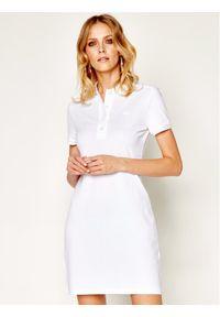 Biała sukienka Lacoste prosta, na co dzień, casualowa