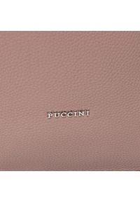 Różowa torebka klasyczna Puccini klasyczna