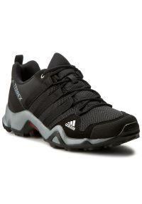 Adidas - Buty adidas - Terrex Ax2r K BB1935 Cblack/Cblack. Wysokość cholewki: przed kostkę. Kolor: czarny. Materiał: skóra ekologiczna, skóra, materiał. Szerokość cholewki: normalna. Wzór: nadruk. Styl: młodzieżowy