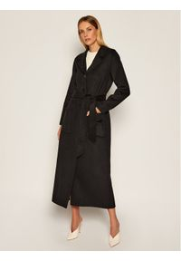 Czarny płaszcz przejściowy TwinSet