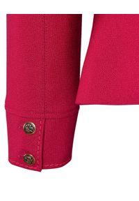 CATERINA - Żakardowa marynarka w kolorze fuksji. Kolor: różowy, wielokolorowy, fioletowy. Materiał: żakard #4