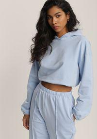 Renee - Niebieski Komplet Dresowy Dwuczęściowy Iphoche. Kolor: niebieski. Materiał: dresówka