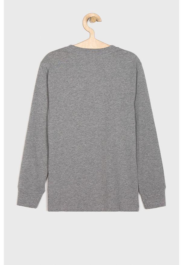 Szara koszulka z długim rękawem Polo Ralph Lauren na co dzień, casualowa, z okrągłym kołnierzem