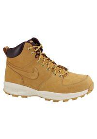 Buty męskie Nike Manoa Leather 454350. Okazja: na spacer, na co dzień. Zapięcie: sznurówki. Materiał: skóra, syntetyk. Szerokość cholewki: normalna. Sezon: zima, jesień. Sport: turystyka piesza