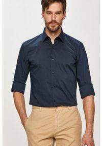 Niebieska koszula Hugo z długim rękawem, elegancka, długa