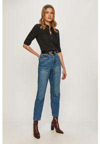 Niebieskie jeansy loose fit Noisy may z podwyższonym stanem