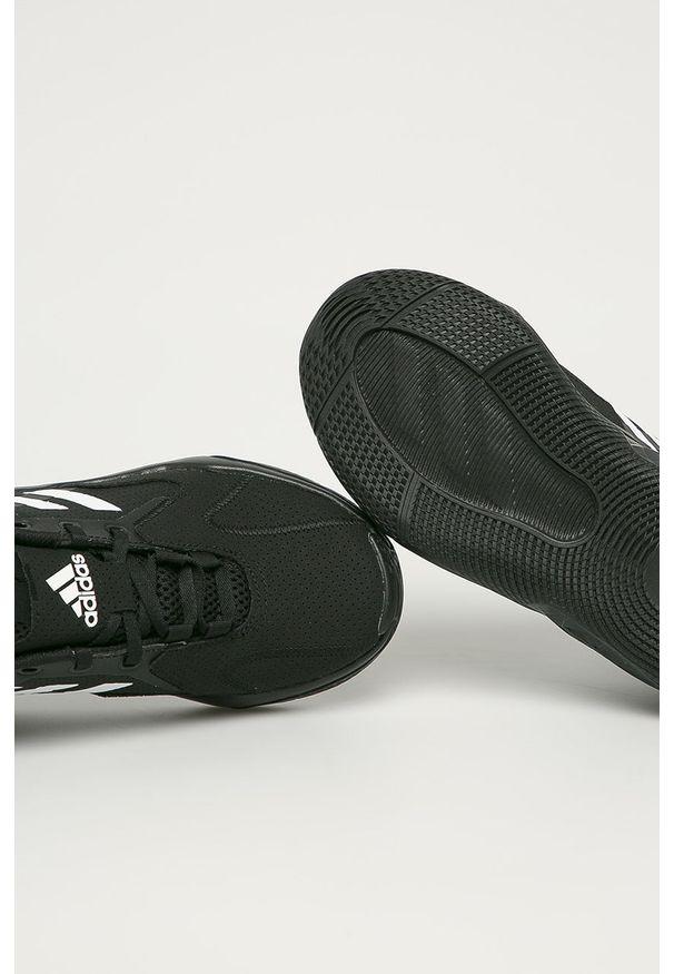 Czarne buty sportowe adidas Performance z cholewką, z okrągłym noskiem, na sznurówki