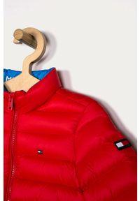 Czerwona kurtka TOMMY HILFIGER na co dzień, casualowa