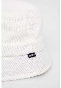 HUF - Kapelusz sztruksowy. Kolor: biały. Materiał: sztruks