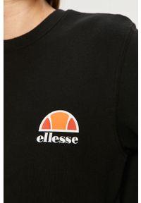 Czarna bluza Ellesse z długim rękawem, długa, z aplikacjami