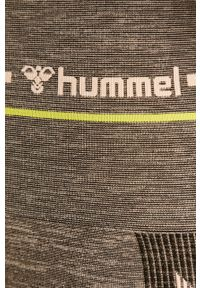 Szare legginsy Hummel z aplikacjami, z podwyższonym stanem