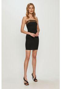 Pinko - Sukienka. Kolor: czarny. Materiał: tkanina. Wzór: gładki. Typ sukienki: dopasowane