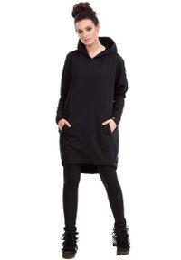 Czarny sweter MOE z kapturem