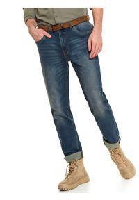 Niebieskie spodnie TOP SECRET casualowe, na co dzień, na wiosnę