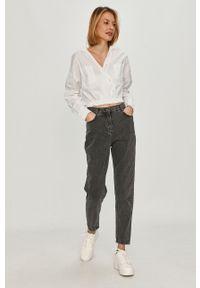 Szare proste jeansy Answear Lab gładkie, wakacyjne