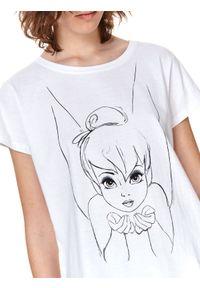 TOP SECRET - T-shirt z nadrukiem disney. Kolor: biały. Materiał: tkanina, bawełna. Długość rękawa: krótki rękaw. Długość: krótkie. Wzór: nadruk, motyw z bajki. Sezon: lato