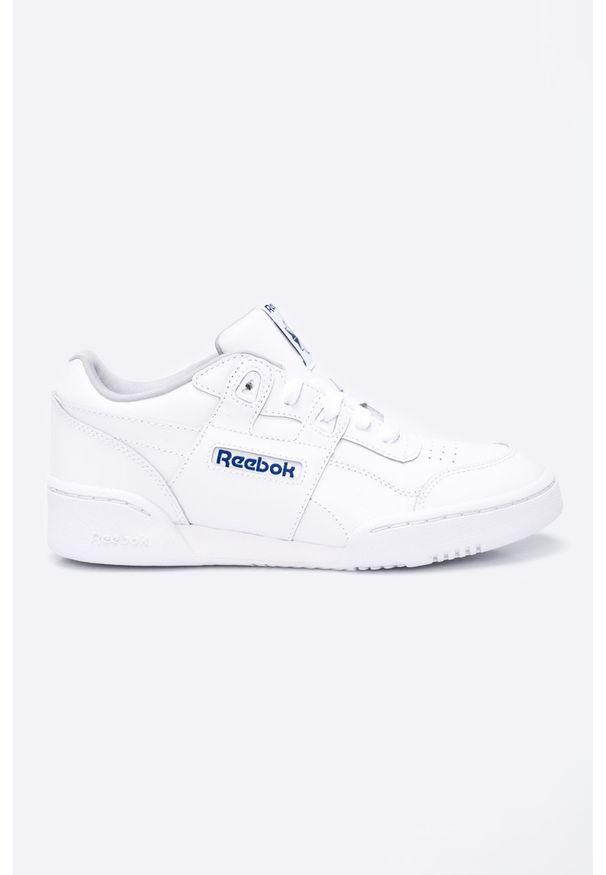Białe buty sportowe Reebok Classic z cholewką, z okrągłym noskiem, Reebok Classic