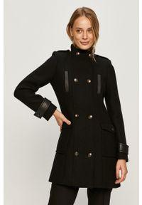 Czarny płaszcz Morgan bez kaptura
