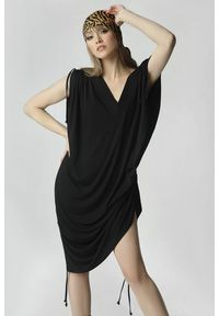 Czarna sukienka mini Madnezz oversize