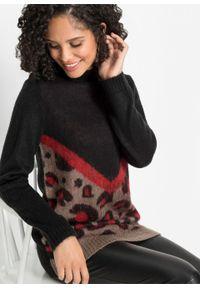 Beżowy sweter bonprix melanż, na jesień