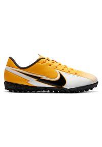 Buty piłkarskie dla dzieci turfy Nike Mercurial Vapor 13 Academy TF AT8145. Okazja: na imprezę. Materiał: guma, syntetyk, materiał, skóra. Szerokość cholewki: normalna. Sport: piłka nożna