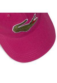 Różowa czapka Lacoste