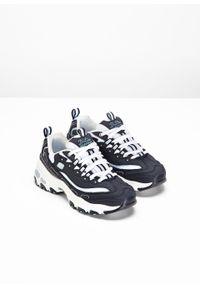 Niebieskie buty sportowe bonprix z aplikacjami