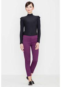 Fioletowe spodnie Katrus eleganckie
