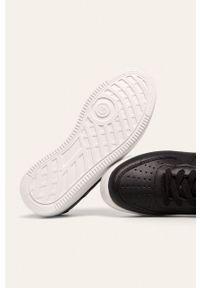 Czarne buty sportowe Answear Lab z cholewką, z okrągłym noskiem, na średnim obcasie, na sznurówki