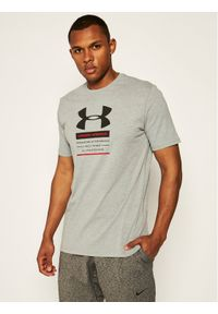 Under Armour T-Shirt Originators Of Performance Center Short Sleeve 1351627 Szary Loose Fit. Kolor: szary