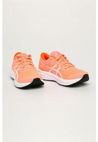 Asics - Buty Patriot 12. Nosek buta: okrągły. Zapięcie: sznurówki. Kolor: pomarańczowy. Materiał: guma