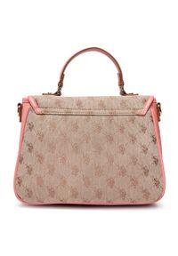 U.S. Polo Assn - Torebka U.S. POLO ASSN. - Lady Lake Handle Flap Bag BEUKG5227WJP406 Peach. Kolor: beżowy. Materiał: skórzane. Styl: klasyczny