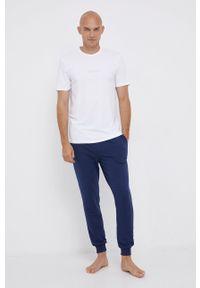 Calvin Klein Underwear - T-shirt piżamowy. Kolor: biały. Materiał: dzianina. Wzór: nadruk