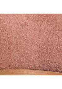 Różowe baleriny Eva Longoria klasyczne, z cholewką