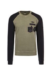 T-shirt Aeronautica Militare z długim rękawem, na jesień, klasyczny