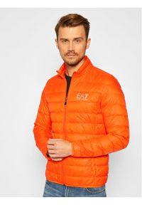 Pomarańczowa kurtka puchowa EA7 Emporio Armani