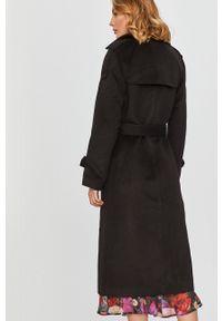 Czarny płaszcz Answear Lab raglanowy rękaw, wakacyjny, bez kaptura, na co dzień #7