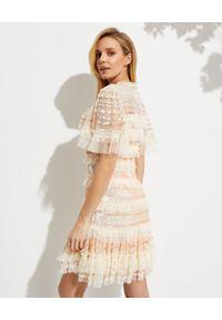 NEEDLE & THREAD - Sukienka Mini Ariana. Kolor: beżowy. Materiał: tiul. Długość: mini