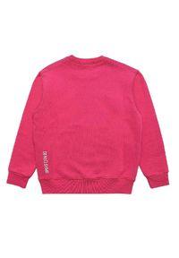 DSQUARED2 KIDS - Różowa bluza 6-12 lat. Kolor: różowy, wielokolorowy, fioletowy. Materiał: bawełna, jeans. Długość rękawa: długi rękaw. Długość: długie. Wzór: nadruk. Sezon: lato. Styl: sportowy
