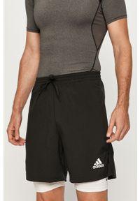 Czarne szorty Adidas casualowe, na co dzień