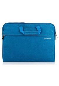 Niebieska torba na laptopa MODECOM w kolorowe wzory
